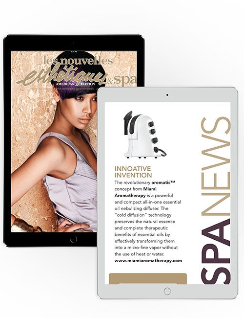 Image of Miami Aromatherapy professional diffuser featured in Les Nouvelles Esthétiques